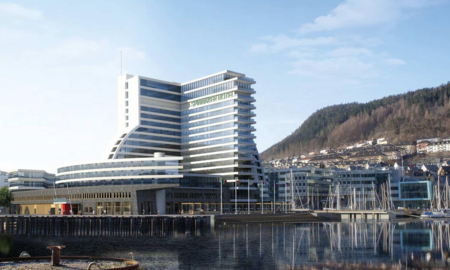 Illustrasjonsfoto av GC Riebers nye Hotell- og Messesenter i Solheimsviken