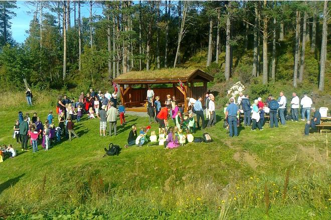 Åpning av grindaløene på Akslafjellet. Foto: Aksla Vel