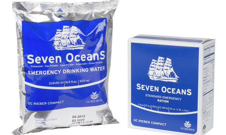 Seven OceanS water and emergency rations
