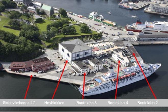 Oversikt over plassering av bygg