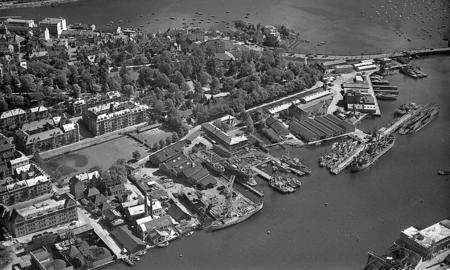 Marineholmen anno 1950