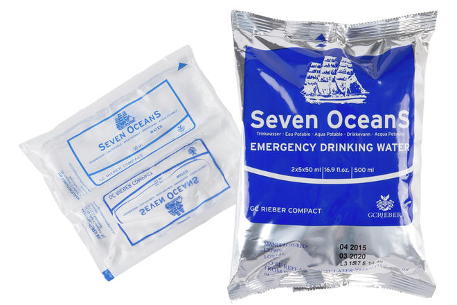 Seven OceanS water sachets