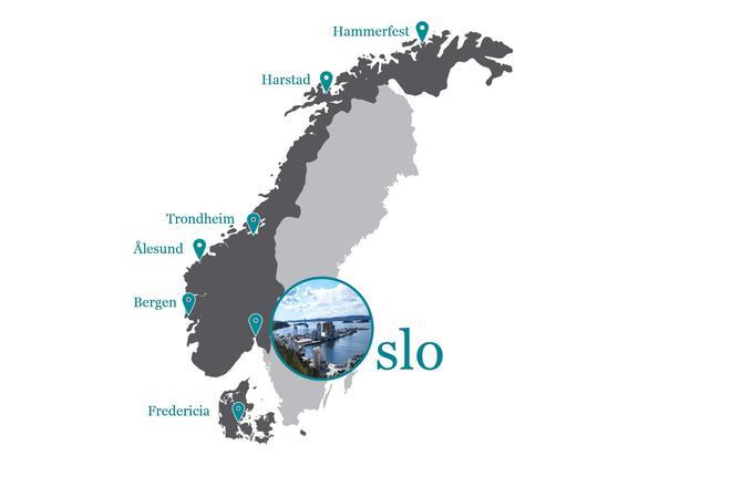 Avdelinger GC Rieber Salt. Hovedkontor i Oslo.