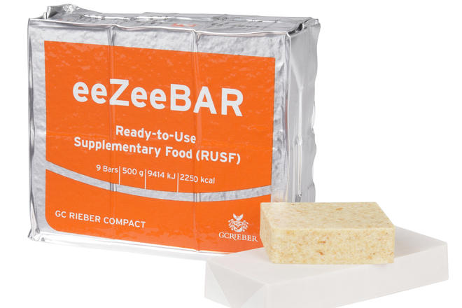 eeZeeBAR packet with food