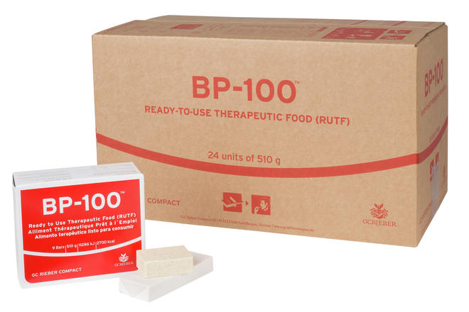 BP-100 unit with food and carton