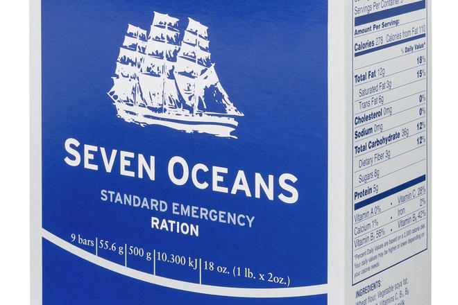 Seven OceanS® Emergency Ration packet