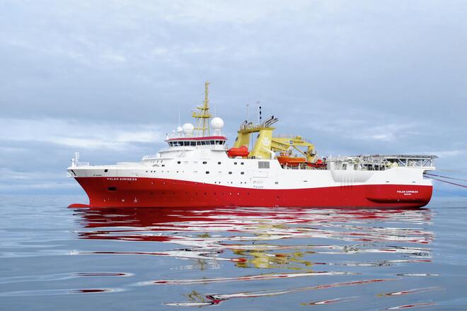 Polar Empress seismic vessel