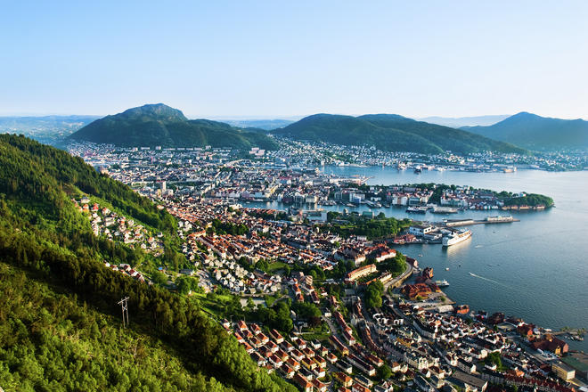Bergen city in Norway