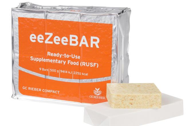 eeZeeBAR™ packet with food