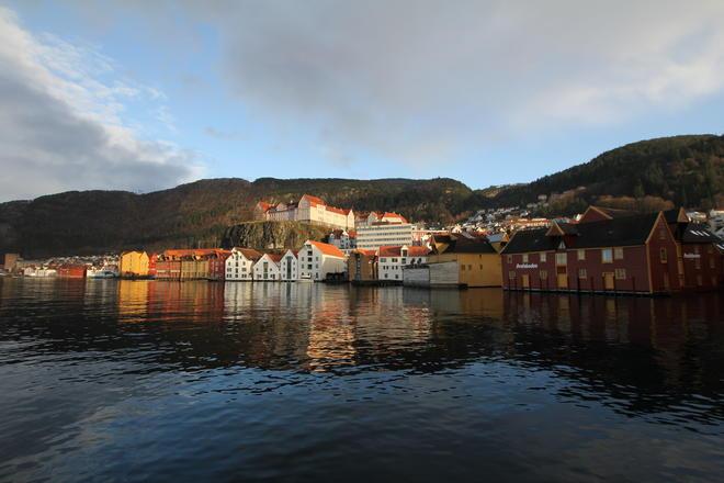 Nydelig utsikt fra sjøfront