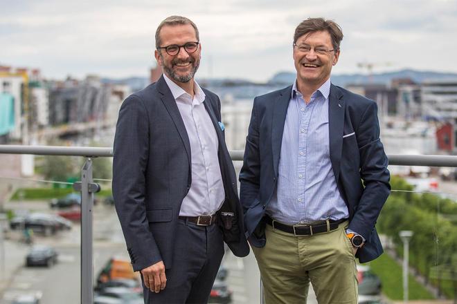 Fra venstre: Trond Slethaug, administrerende direktør og Rolf Wergeland, leder for salg og forretningsutvikling i Inventura