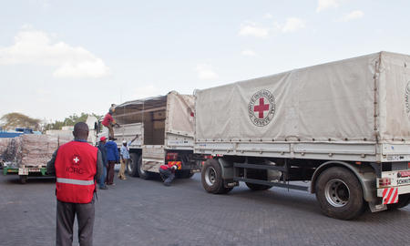 ICRC loading truck
